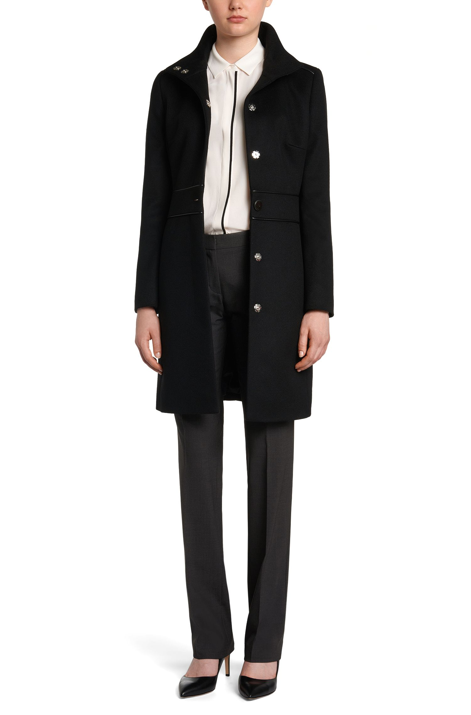 Hose aus Strech-Schurwolle mit Bügelfalten: 'Hinass-5'
