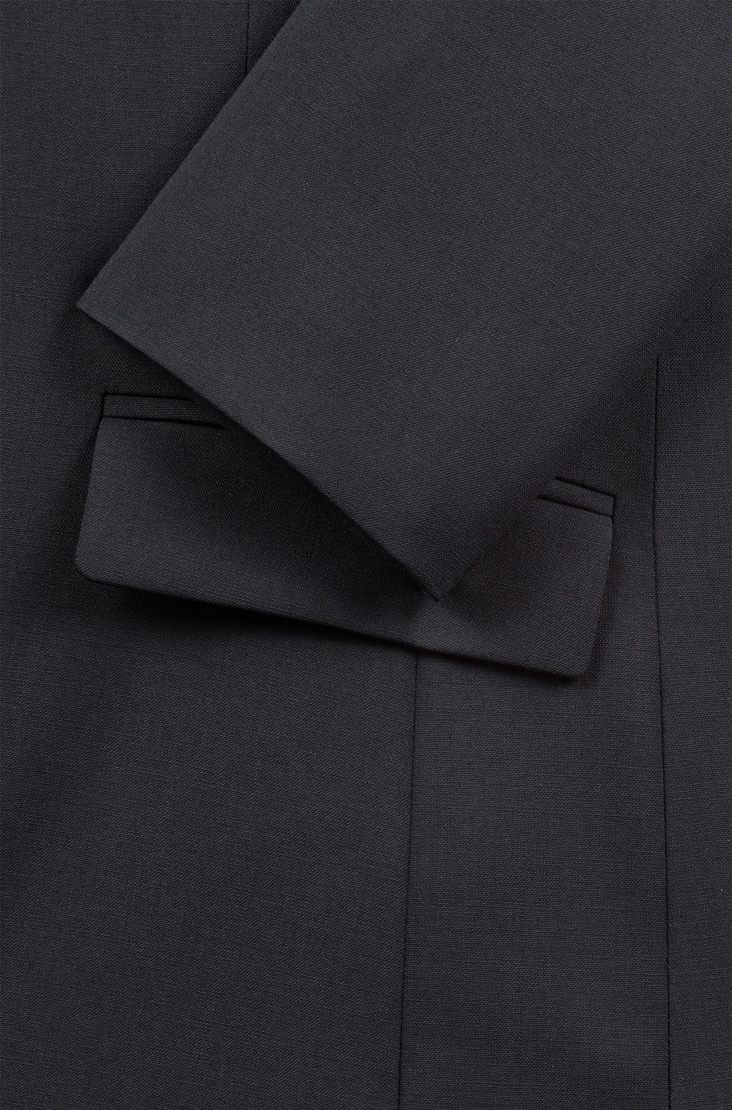 Blazer légèrement cintré en laine vierge stretch: «Amiesa-2»