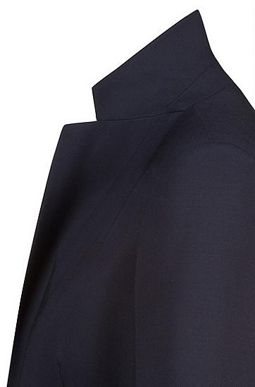 Leicht taillierter Blazer aus Stretch-Schurwolle: 'Amiesa-2', Dunkelblau
