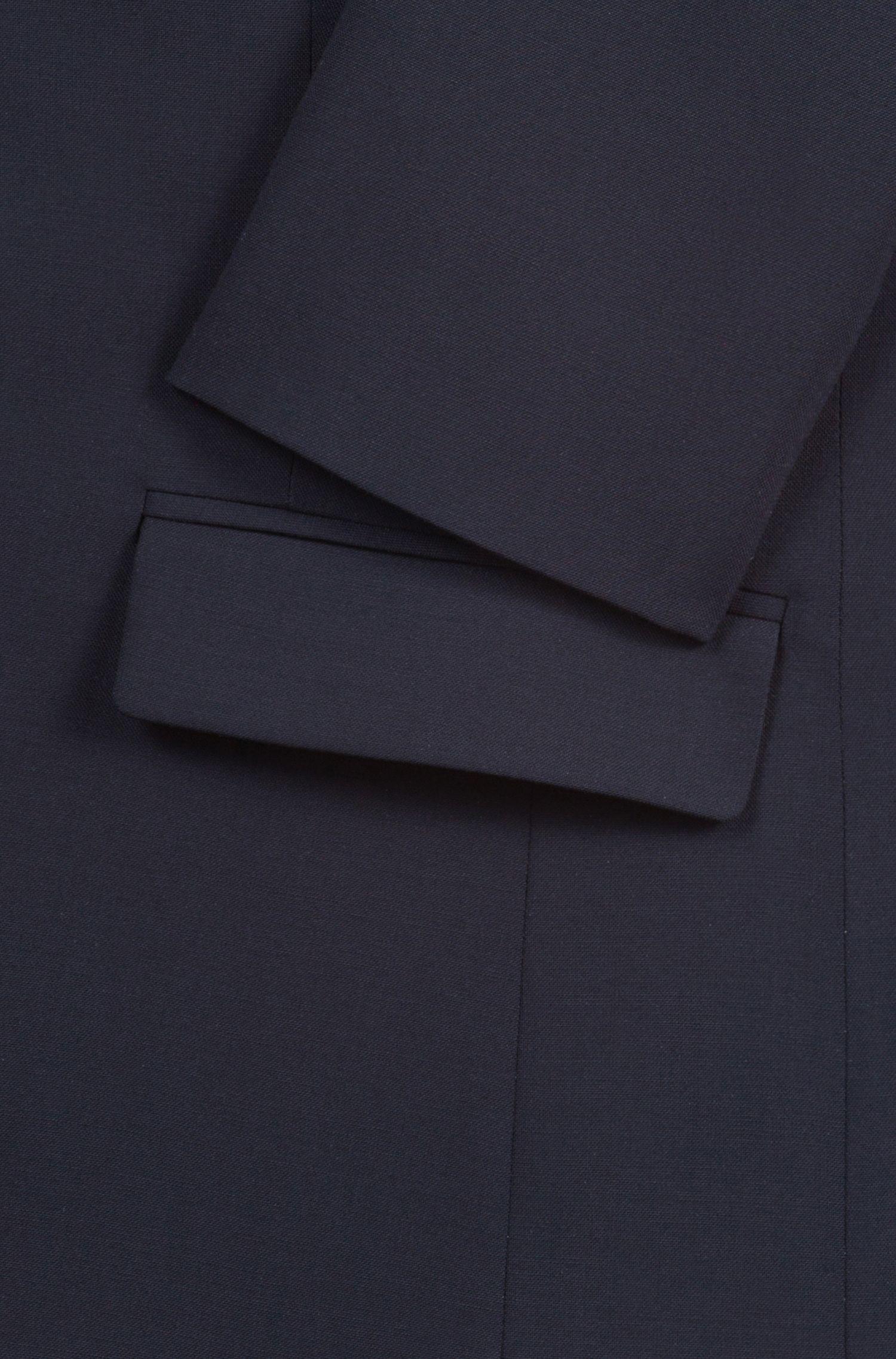 Licht getailleerde blazer van scheerwol met stretch: 'Amiesa-2'