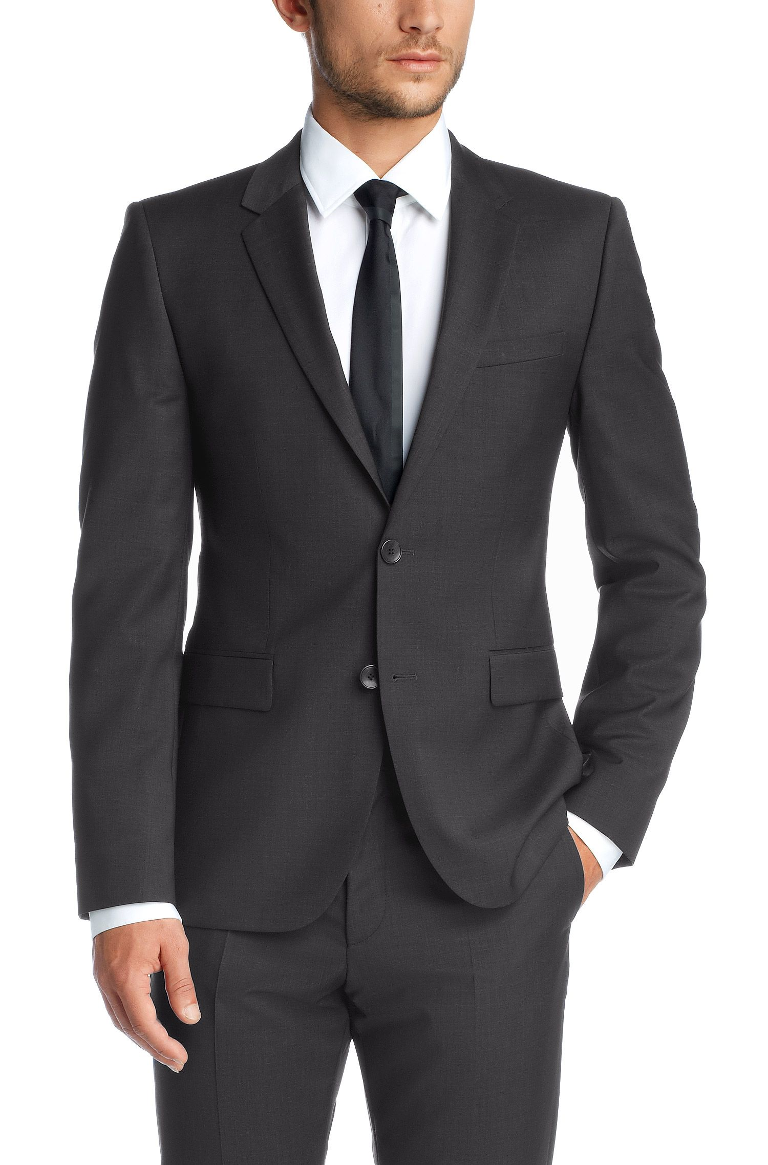 Veston Slim Fit en laine vierge, AerinS