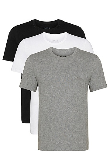 T-shirt triple pack in cotton, Assorted-Pre-Pack