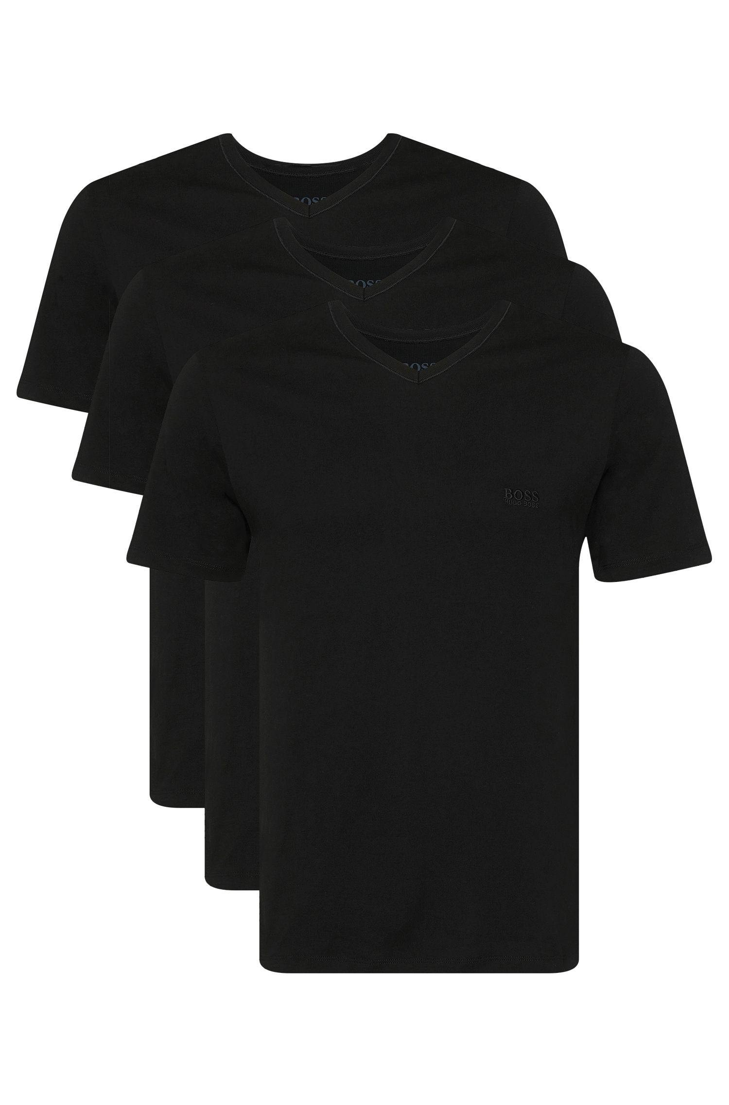 Triopak T-shirts van katoen