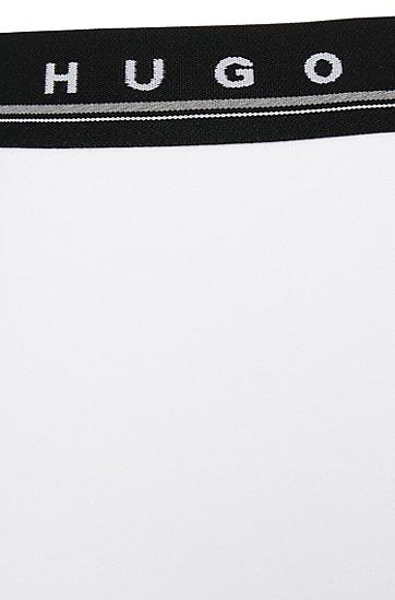 Unifarbene Boxershorts aus Stretch-Baumwolle: 'Boxer BM', Weiß