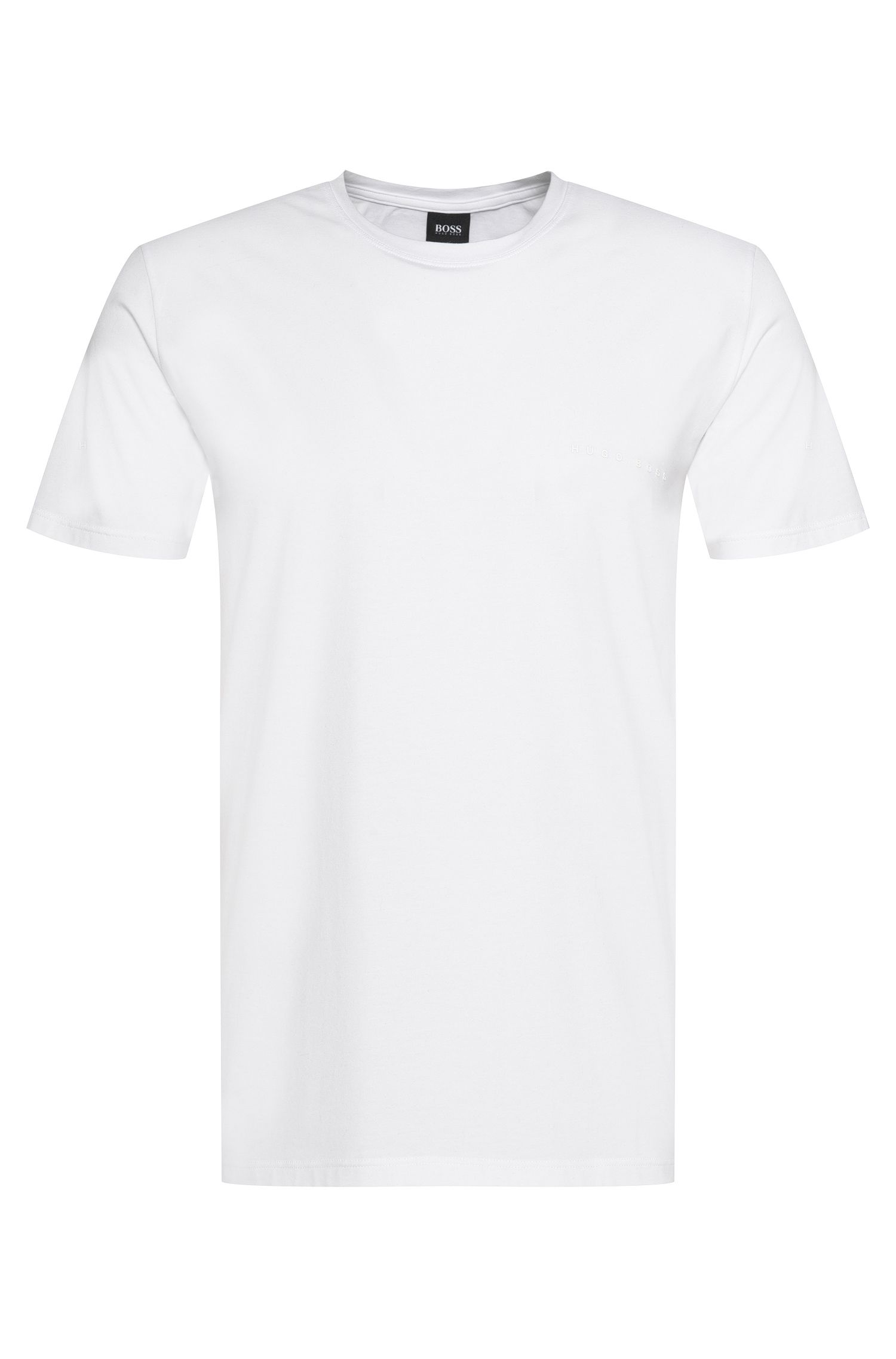 Slim-fit t-shirt in stretch cotton blend with modal