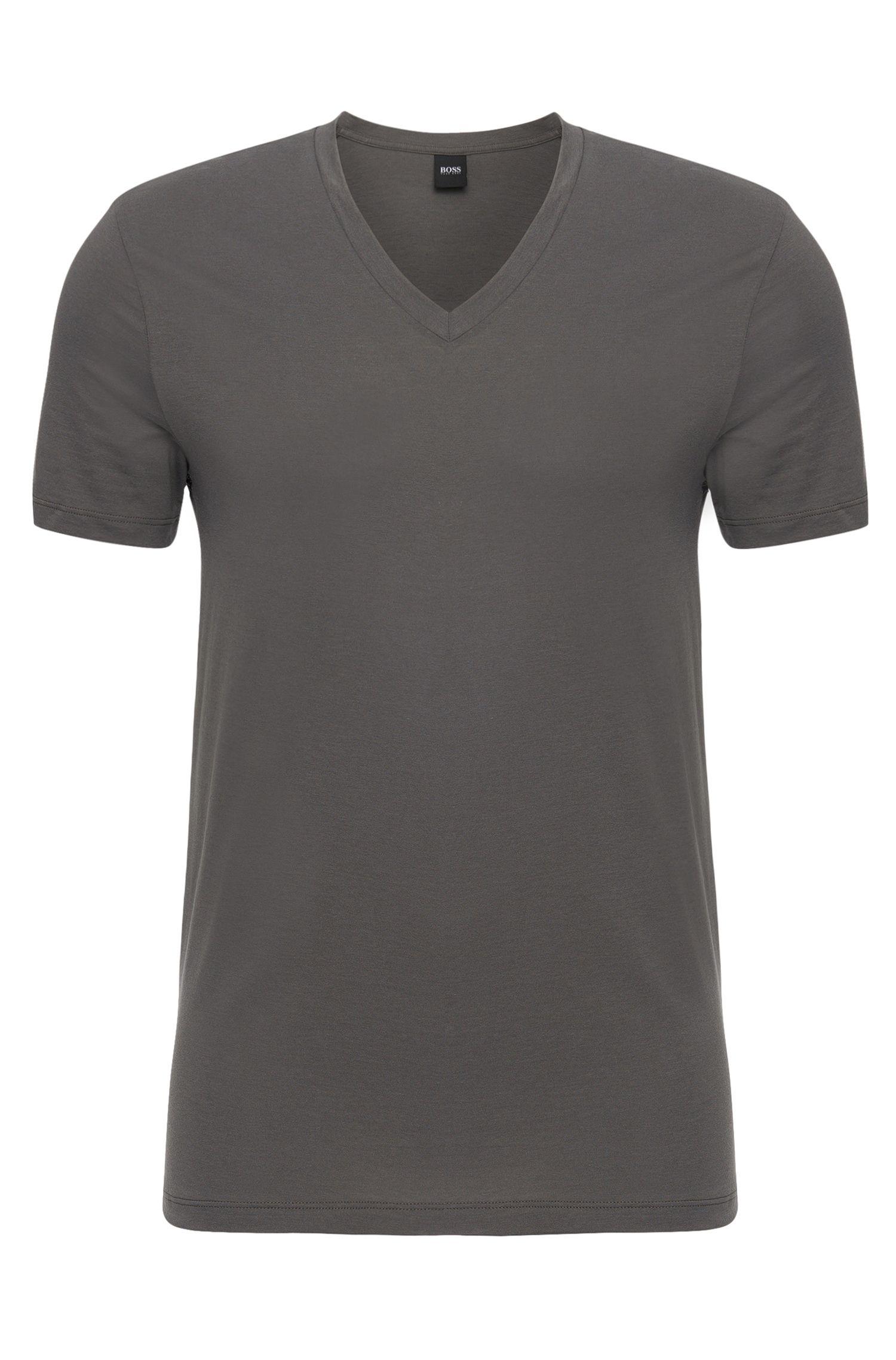 T-Shirt aus Baumwolle mit V-Ausschnitt: 'Shirt VN BM'