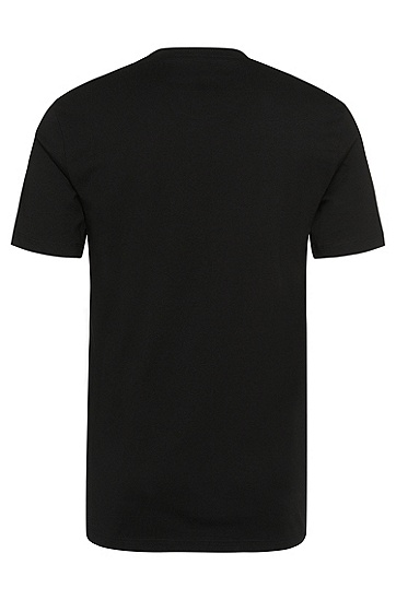 Solid-coloured t-shirt double pack in cotton: 'Shirt RN 2P BM', Black