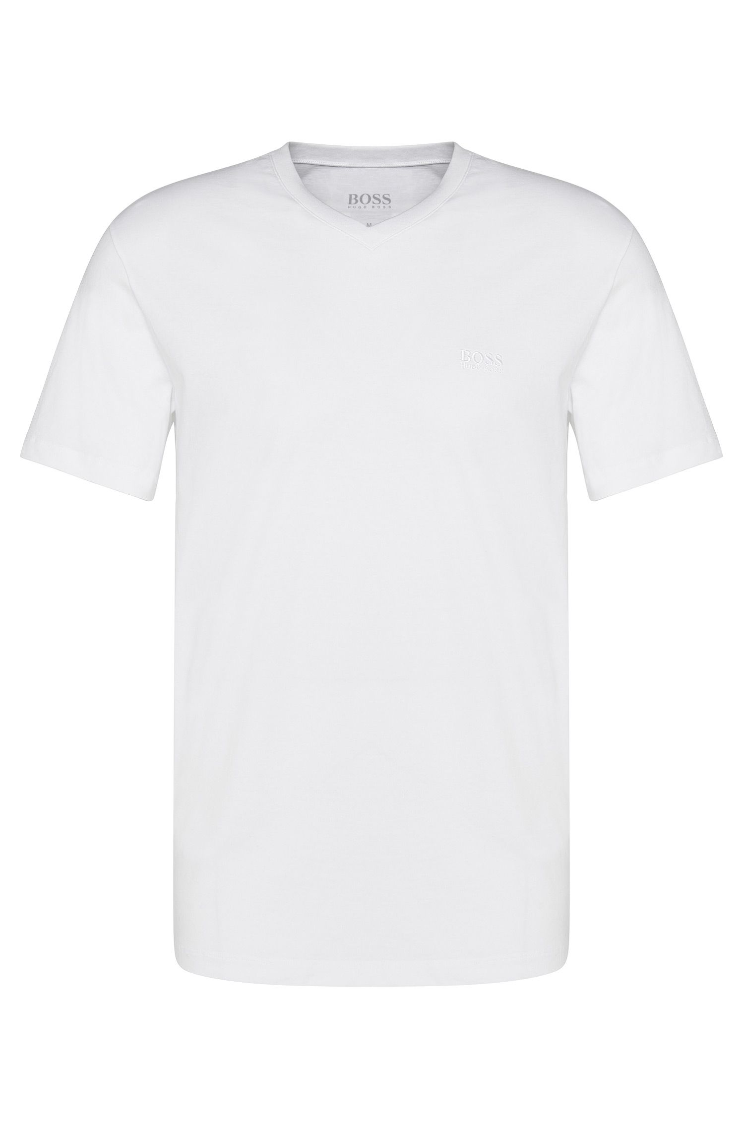 T-shirt Regular Fit en lot de deux, en pur coton