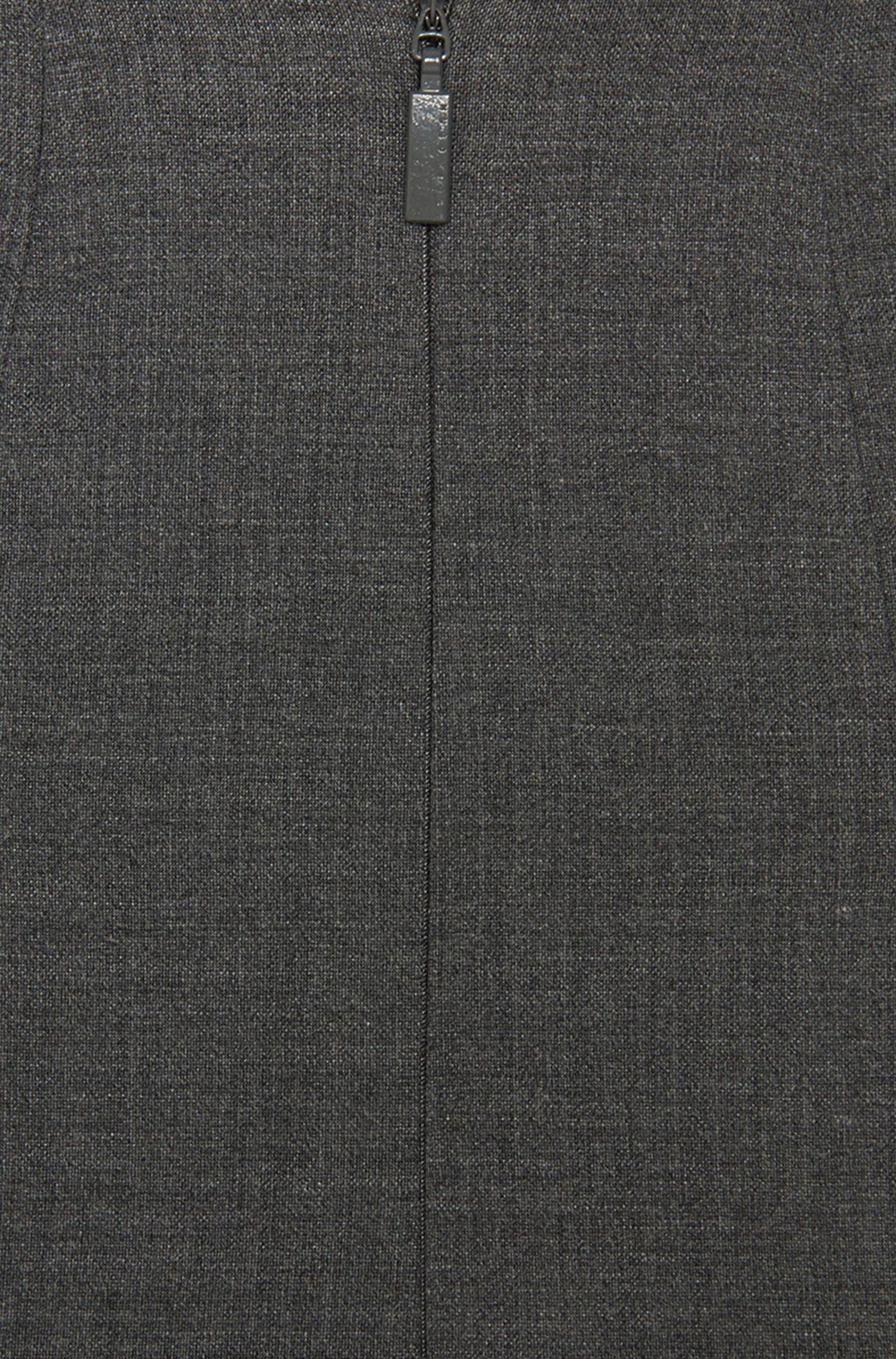 Jupe fourreau «Vilina» en laine vierge mélangée
