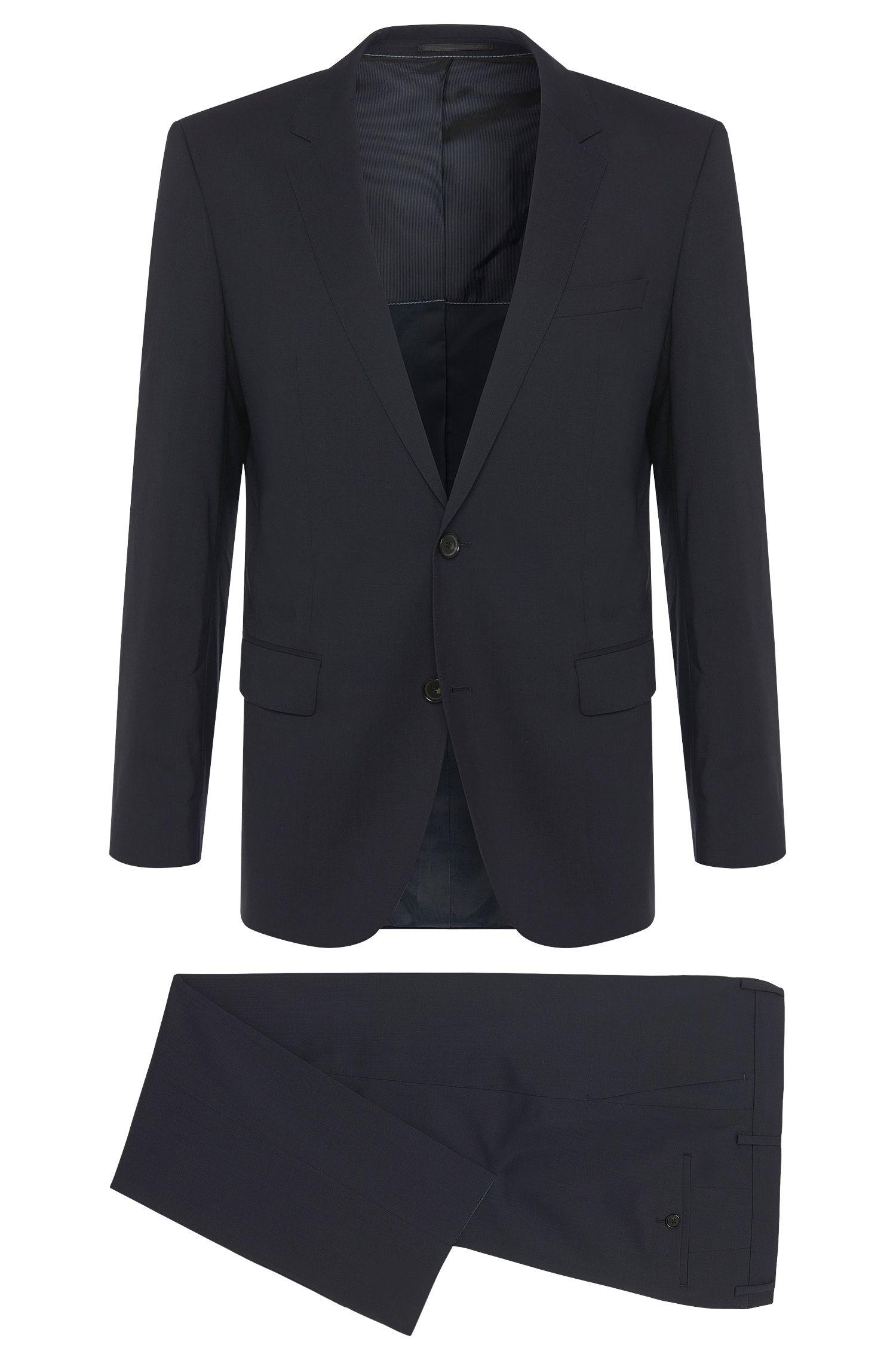 Slim-fit suit in stretchy new wool blend: 'Huge1/Genius1'