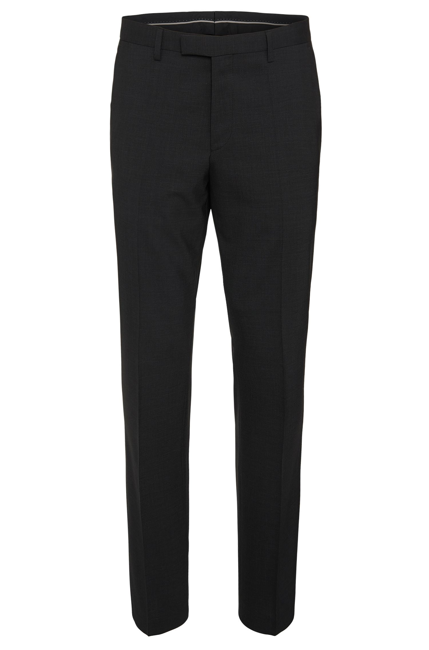 Regular-fit trousers in stretchy new wool: 'Shout'