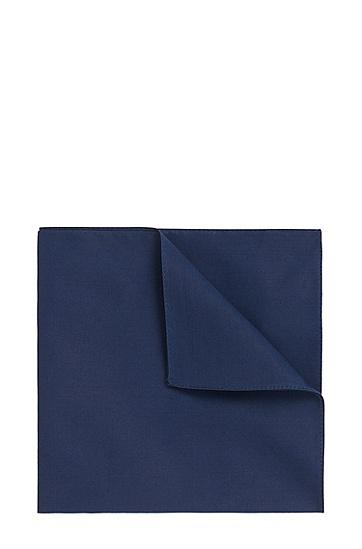Effen pochet van zuivere katoen: 'Pocket square 33x33', Donkerblauw