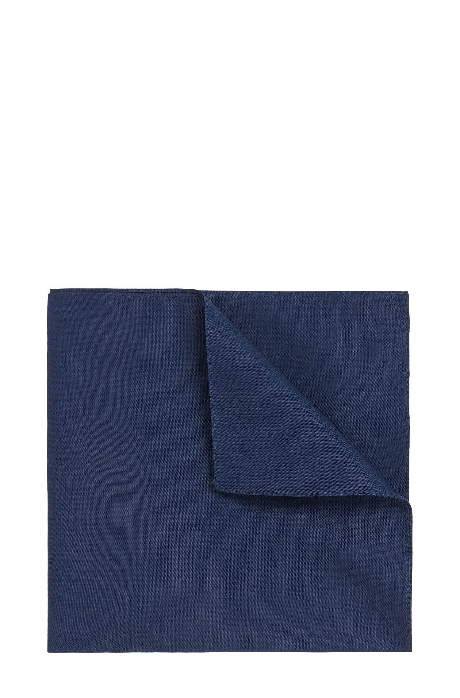 Effen pochet van zuivere katoen: 'Pocket square 33x33'