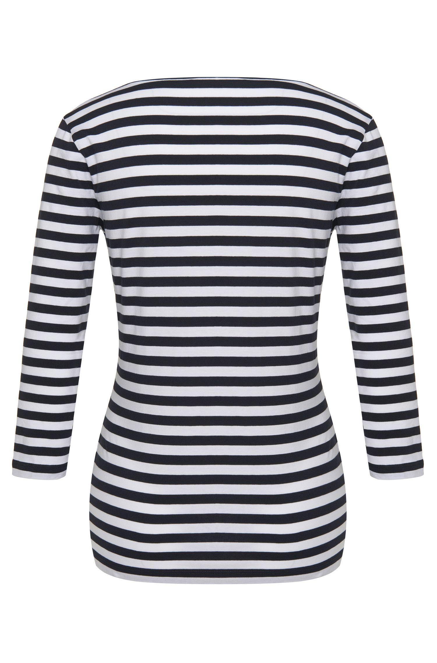 Gestreiftes Shirt aus Stretch-Baumwolle: 'E4513'
