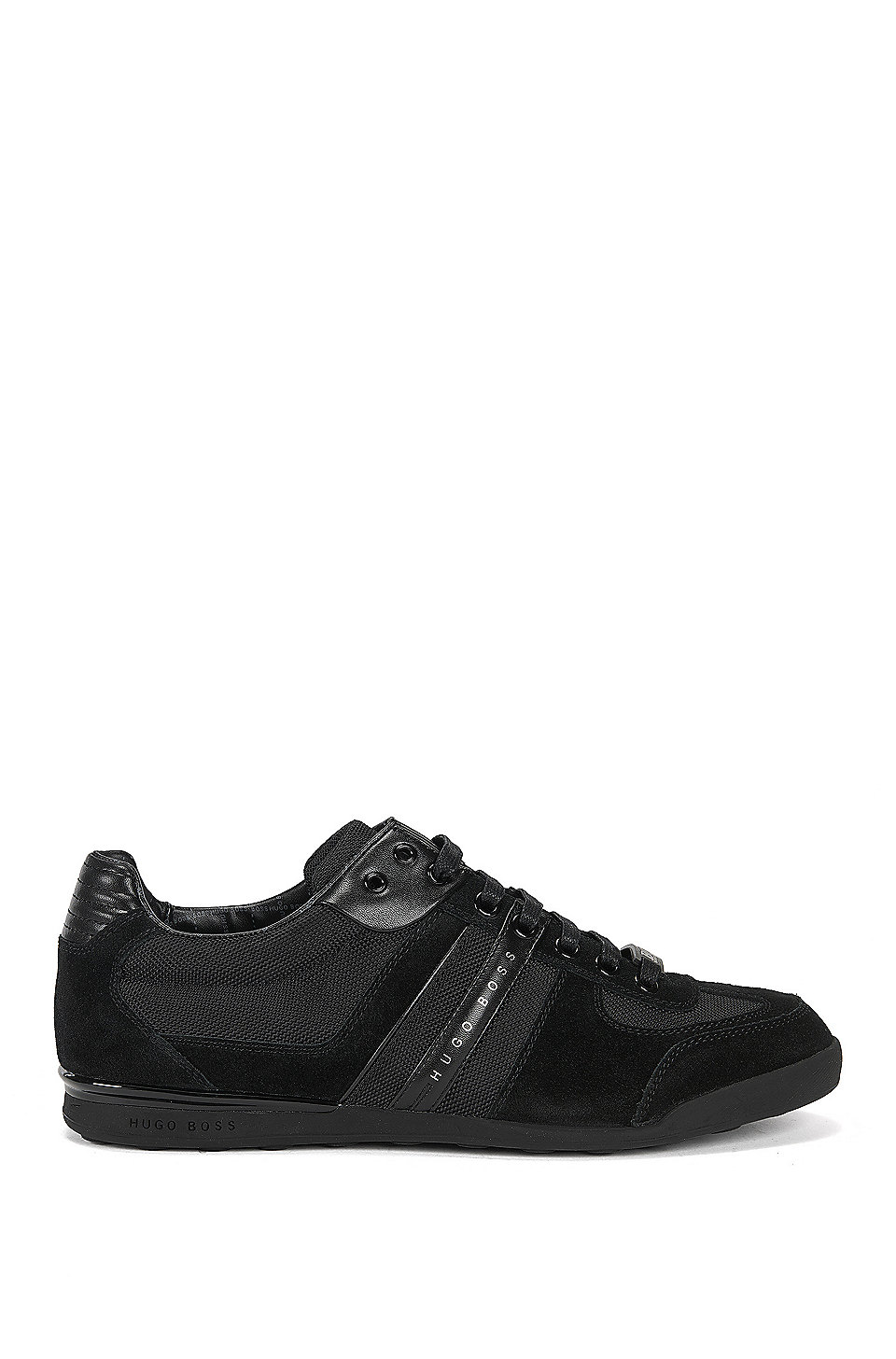 Low profile sneakers with technical construction, Black
