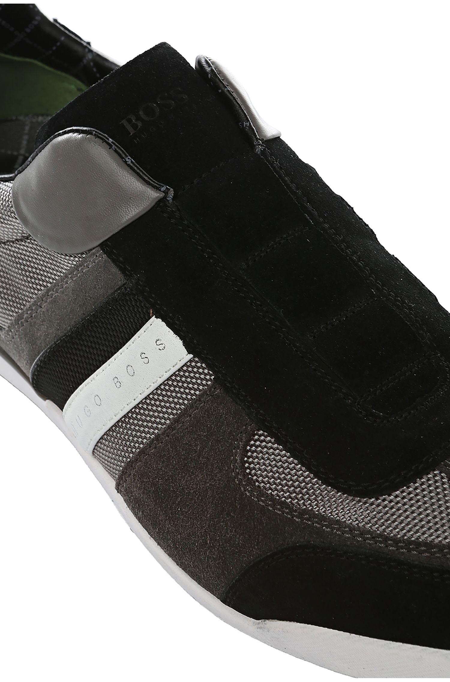 Sneakers van suède met delen van nylon: 'AKEEN I'
