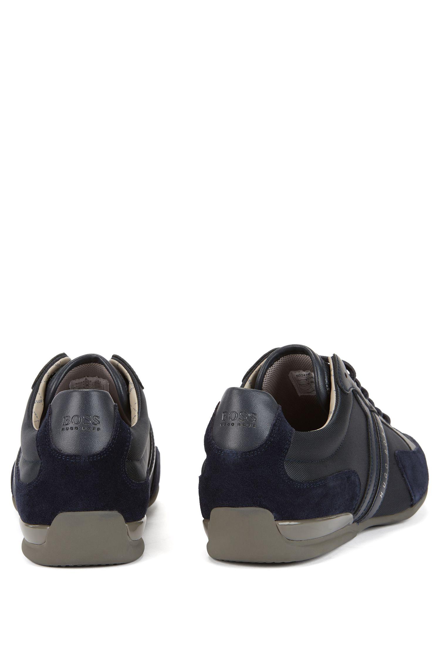 Sneakers im Material-Mix mit Lederbesatz: ´Spacit`