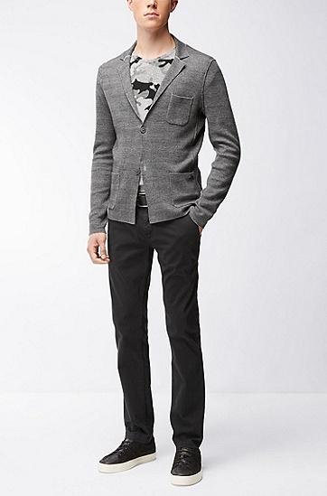 修身版弹力棉斜纹棉布裤:'Schino-Slim1-D',  001_黑色