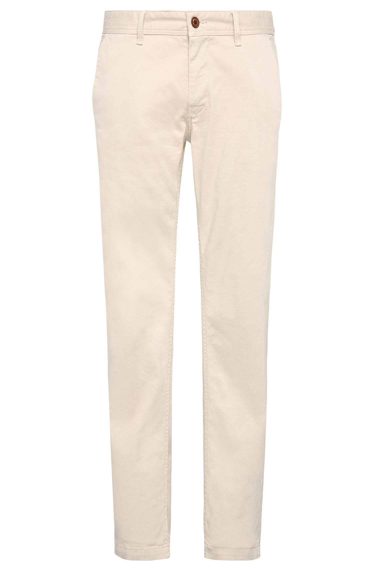 Slim-Fit Chino aus angerauter Stretch-Baumwolle von BOSS Orange
