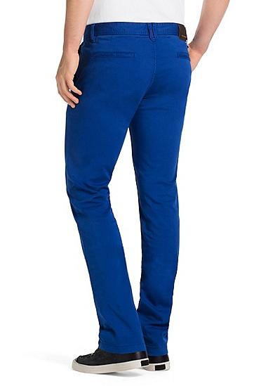 修身版弹力棉斜纹棉布裤:'Schino Slim D',  425_中蓝色