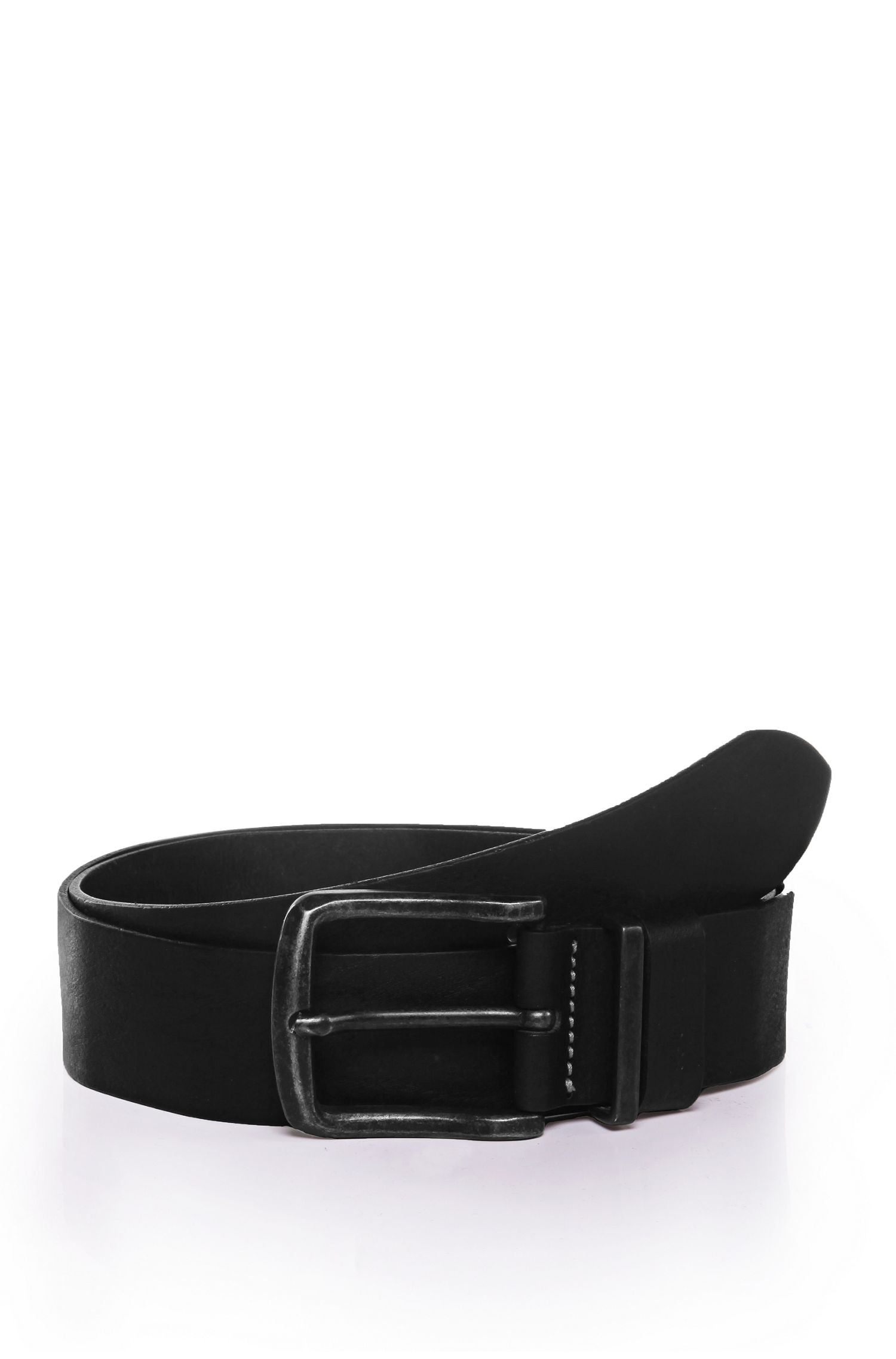 Belt in finely grained leather: 'Jeppo'