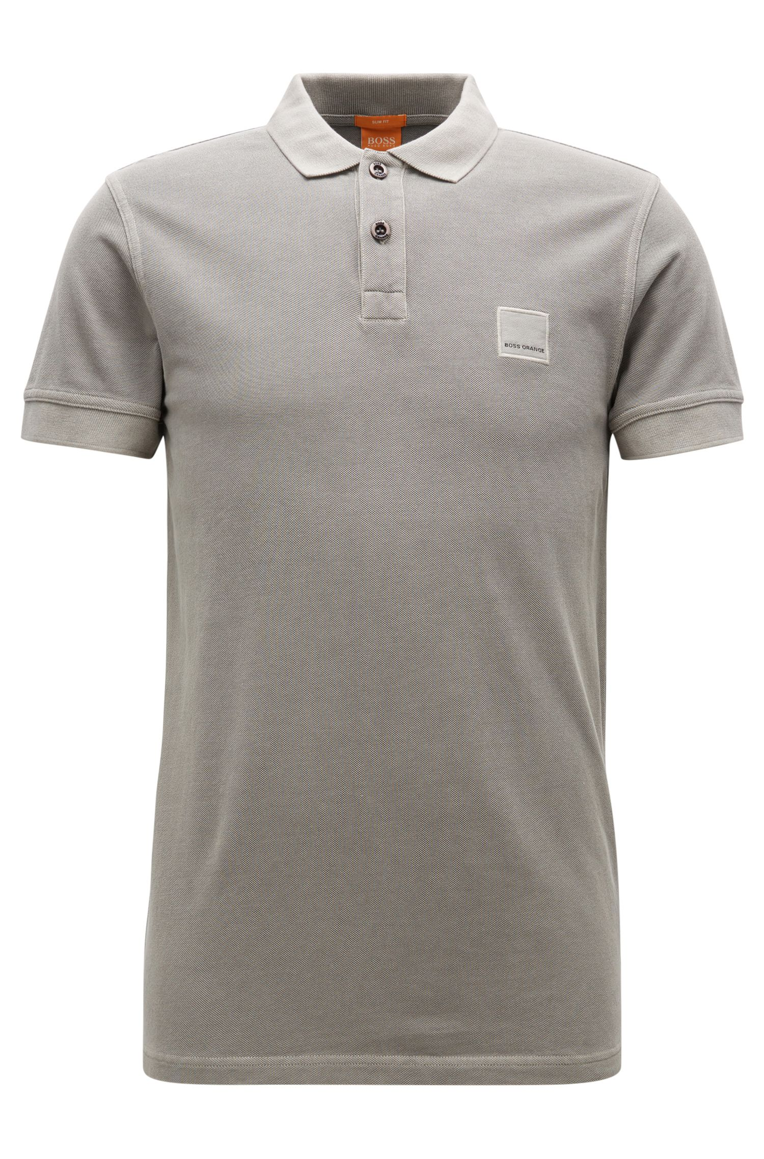Slim-fit polo shirt in washed cotton by BOSS Orange