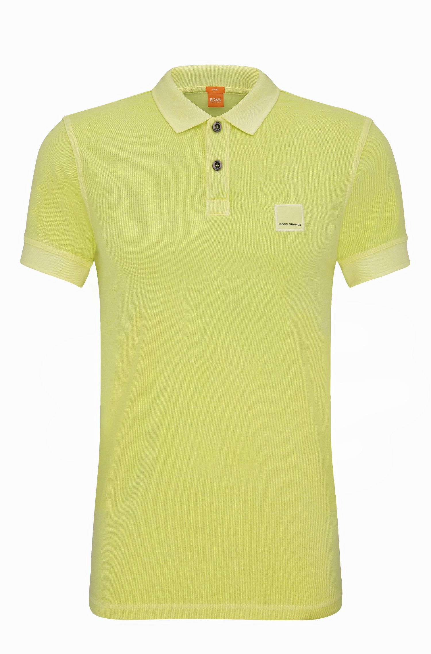 Polo BOSS Orange Slim Fit en coton lavé