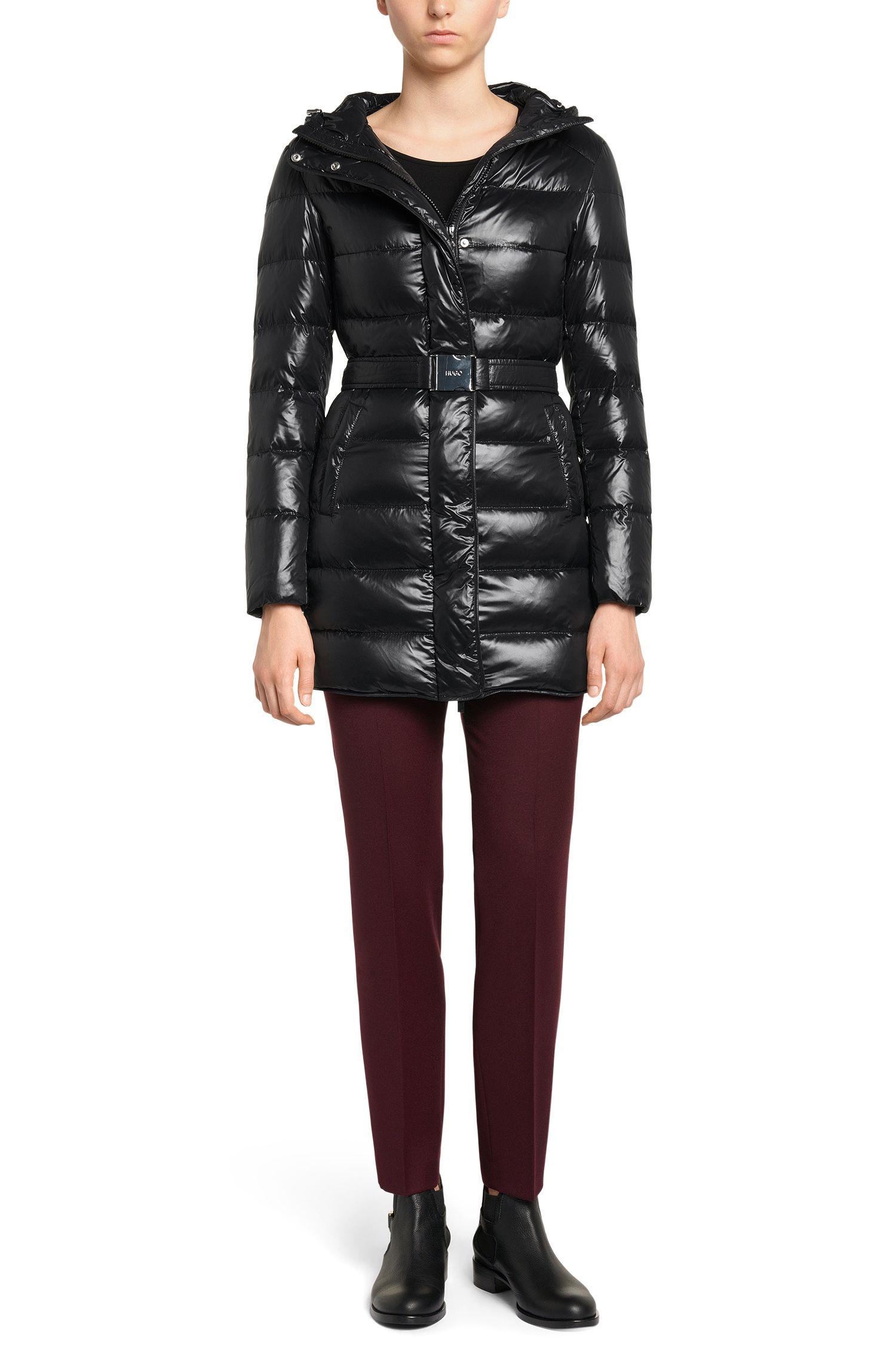 Pantalon Slim Fit en laine vierge mélangée extensible: «Harile-3»