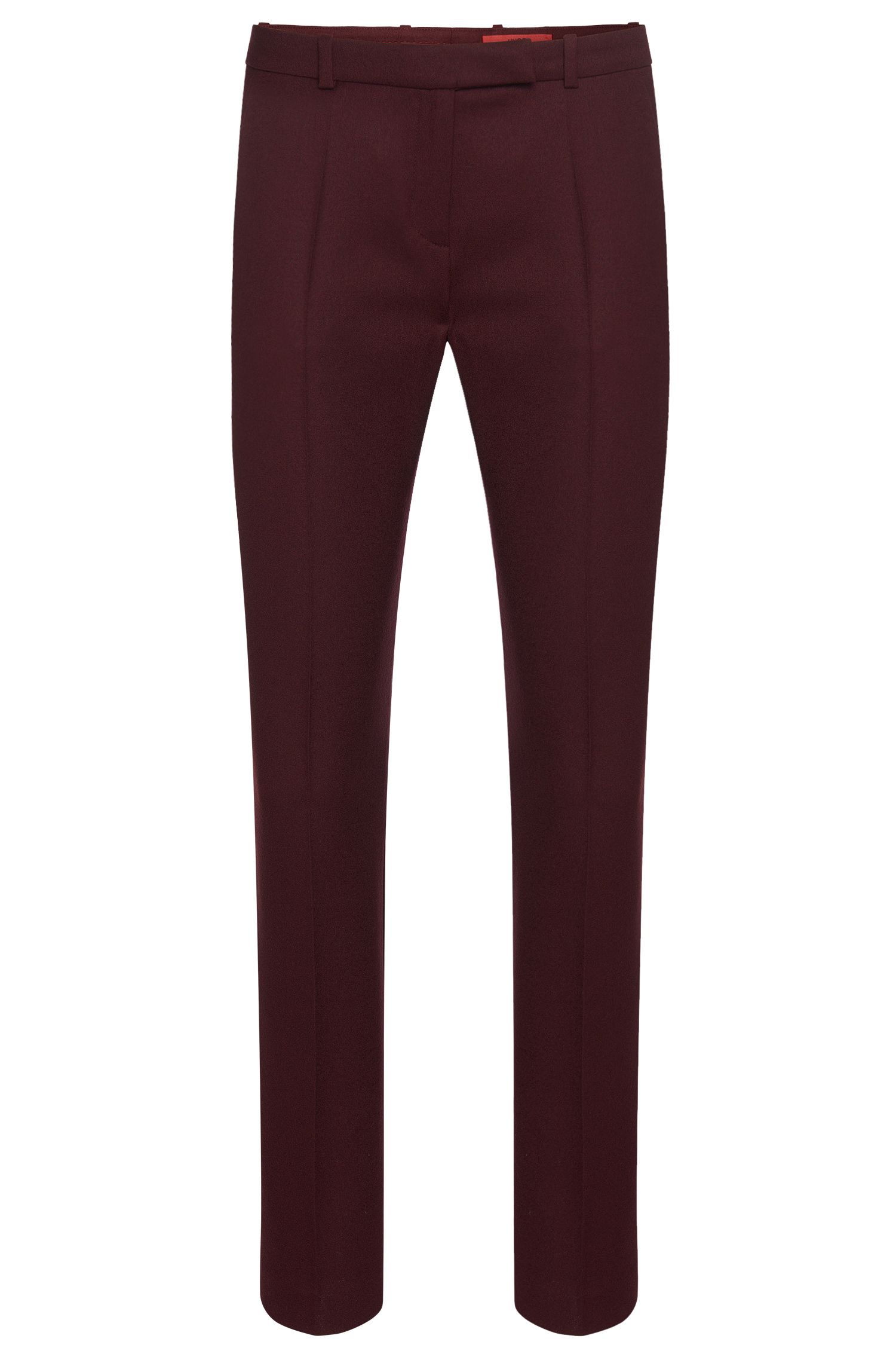 Slim-fit trousers in stretch new-wool blend: 'Harile-3'