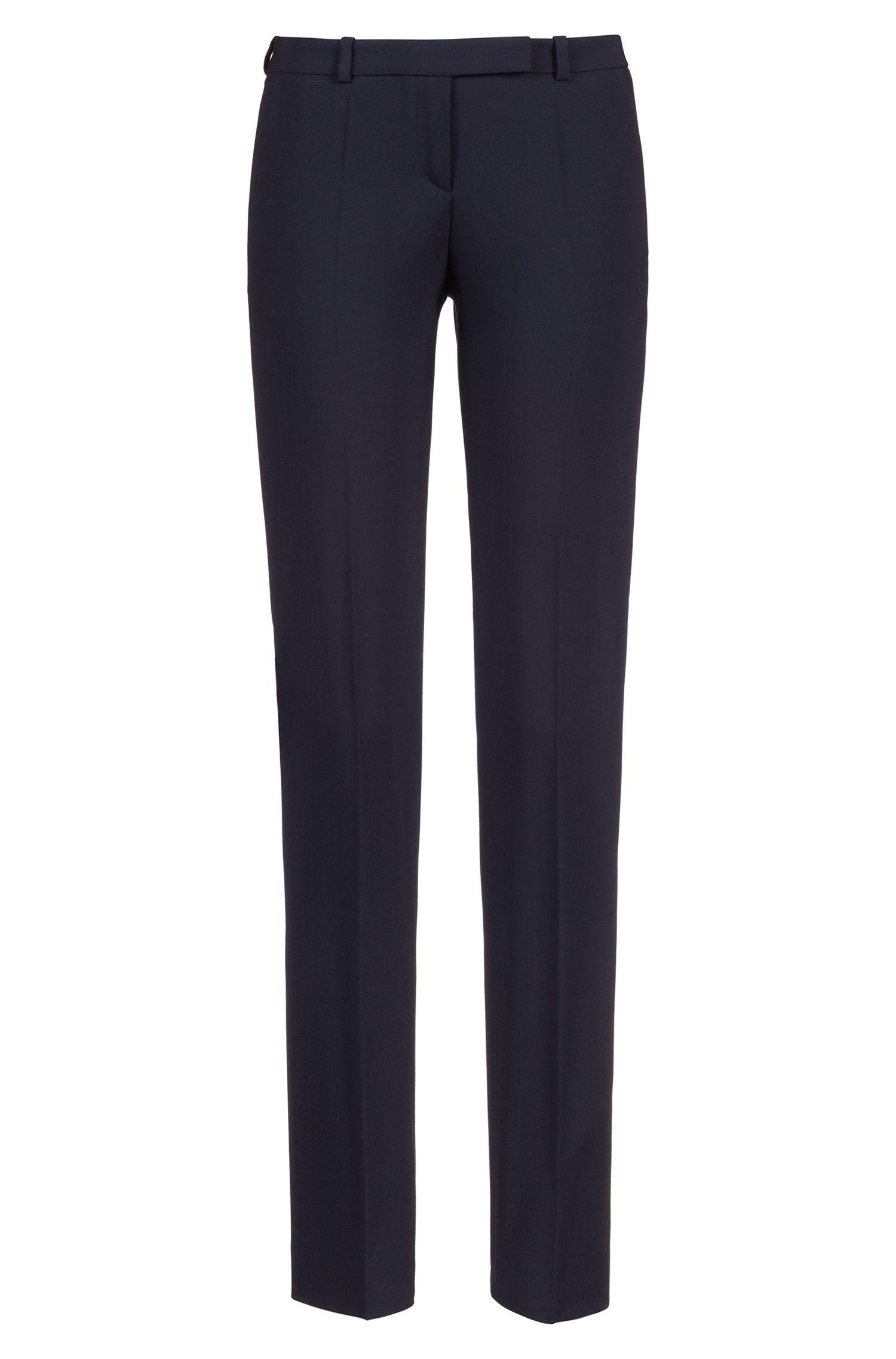 Regular-fit broek van stretchscheerwol van HUGO Woman