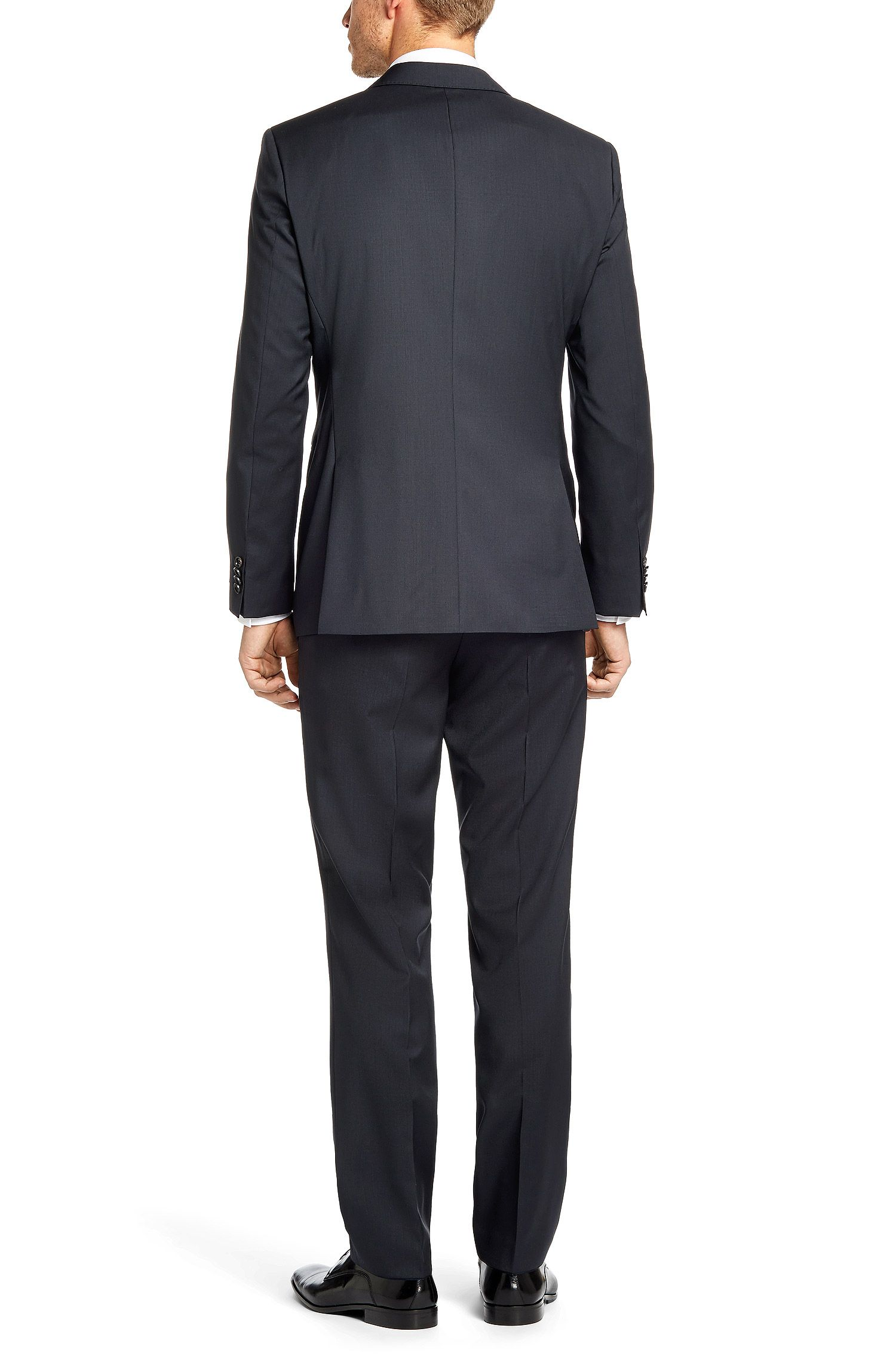 Regular-fit kostuum van zuivere scheerwol: 'The James4/Sharp6'