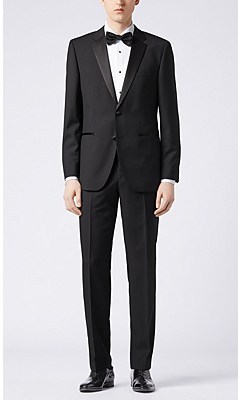 Regular fit dinner suit in new wool: 'The Stars1/Glamour1', Black