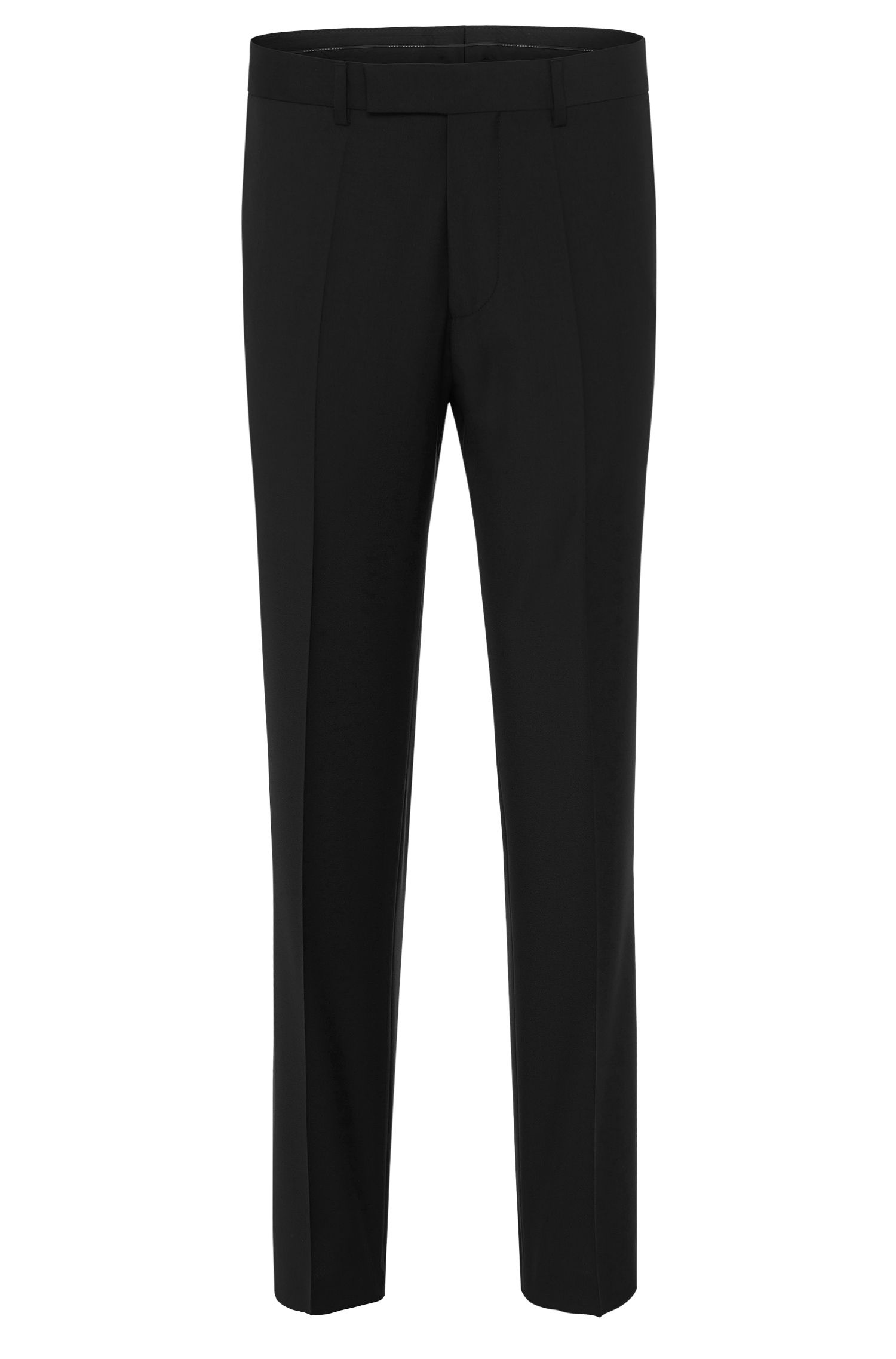 Comfort-fit trousers in pure new wool: 'Movis'