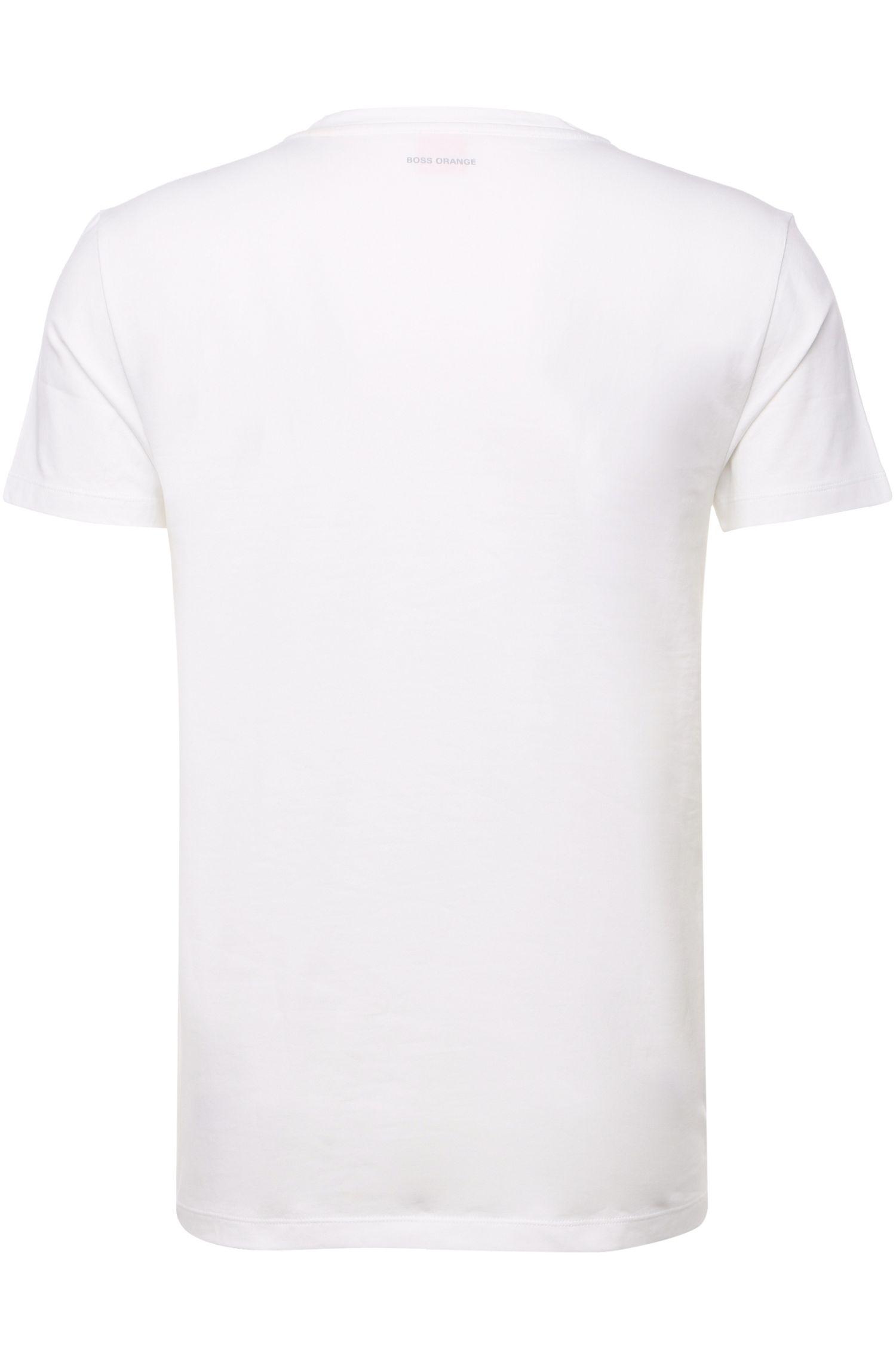 T-shirt Slim Fit en coton stretch, en lot de deux: «Tedd»