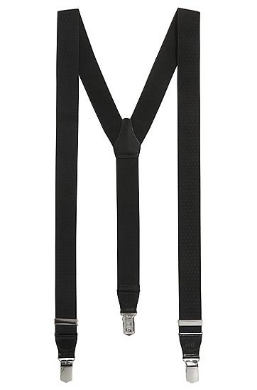 Hosenträger ´Bratt` aus einer elastischen Viskosekomposition, Schwarz