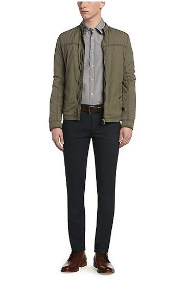 常规版纹理质感休闲衬衫 'CliffE',  001_黑色
