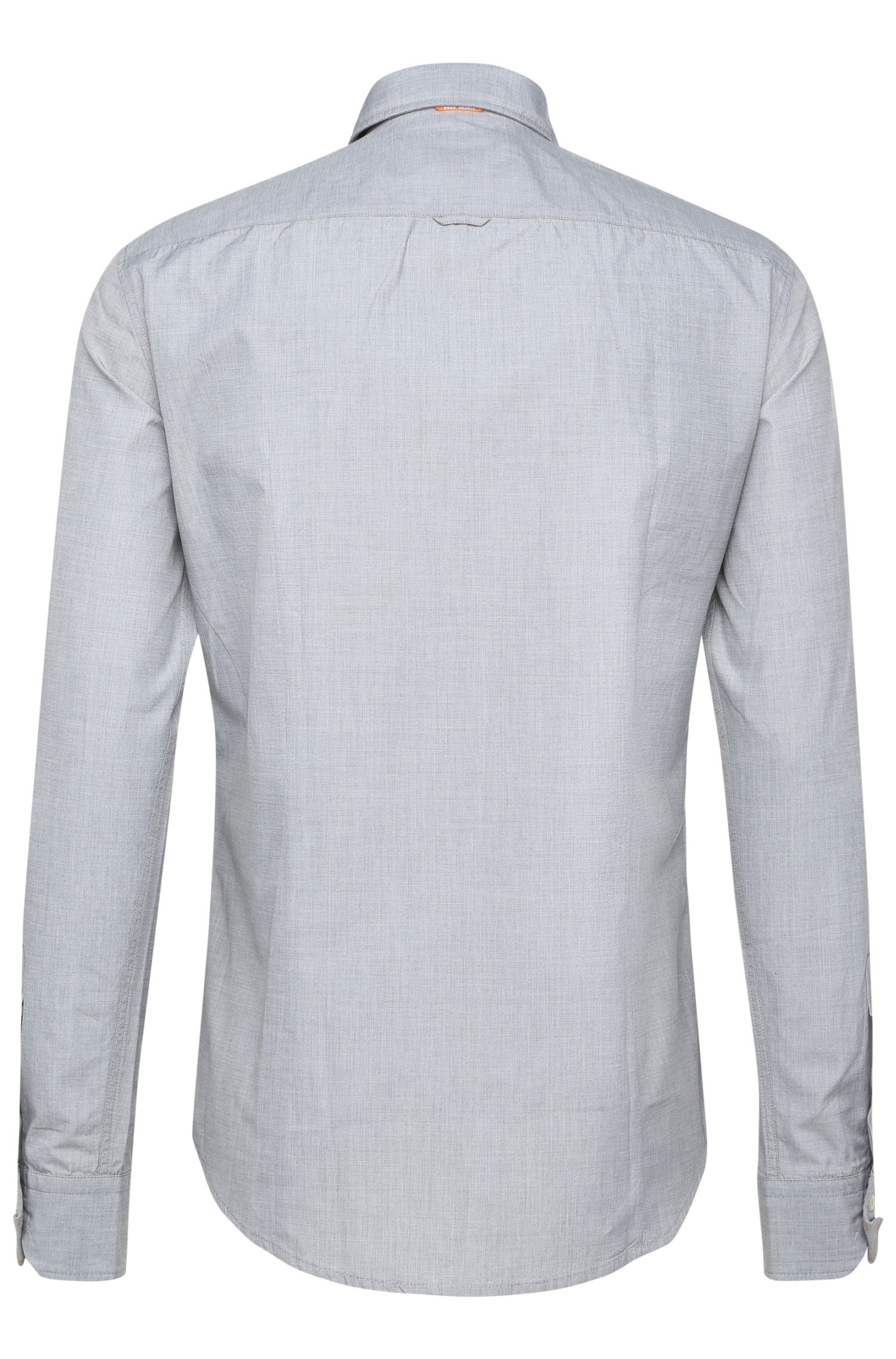 Fein texturiertes Regular-Fit Hemd aus reiner Baumwolle: ´CliffE`