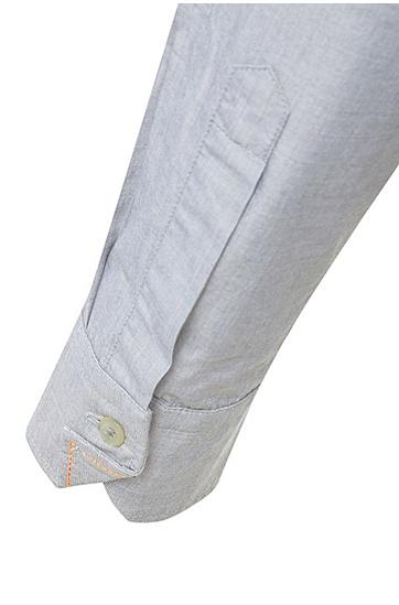Fein texturiertes Regular-Fit Hemd aus reiner Baumwolle: ´CliffE`, Grau