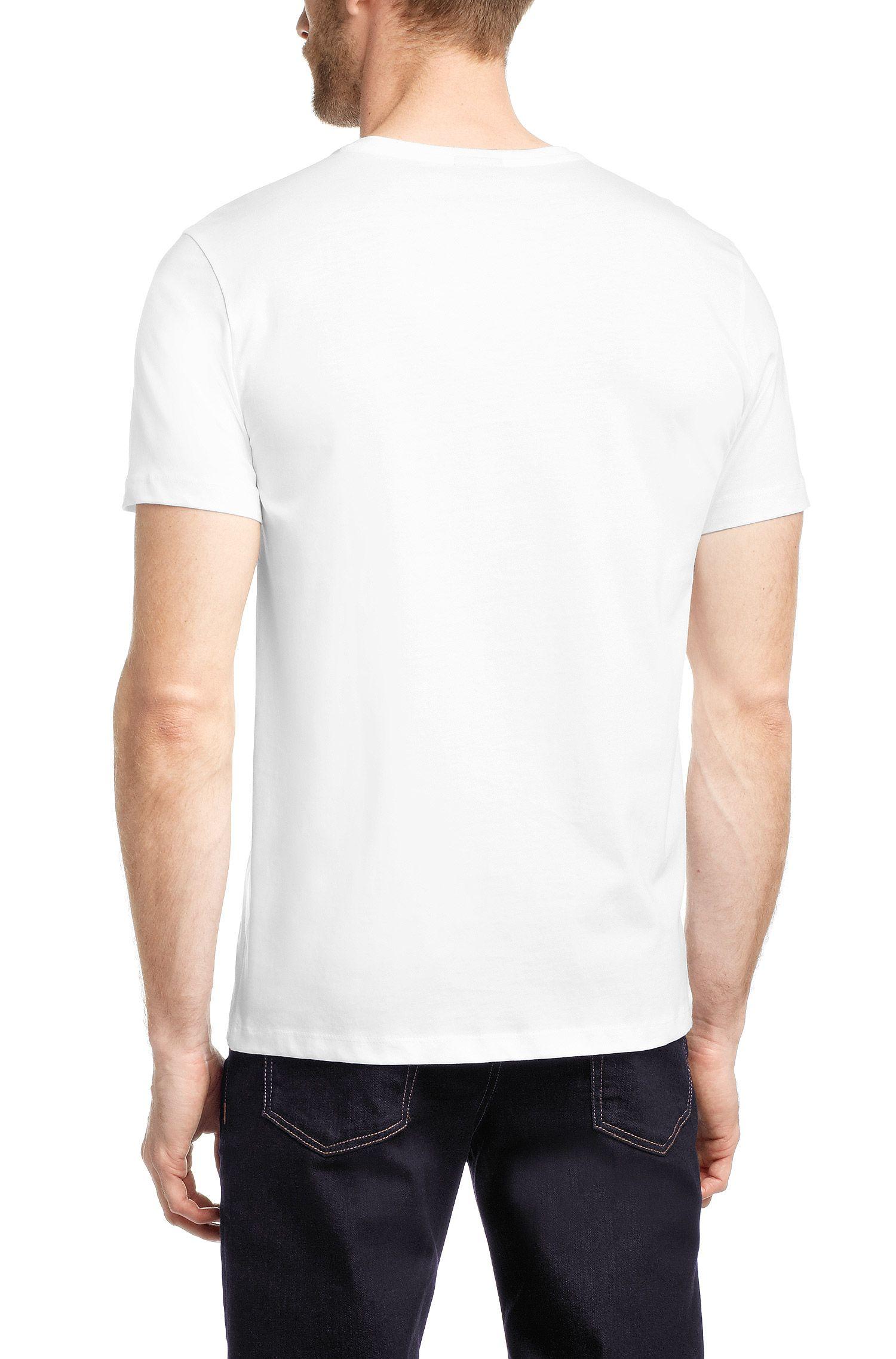 T-shirt Slim Fit en coton: «Lecco 80»