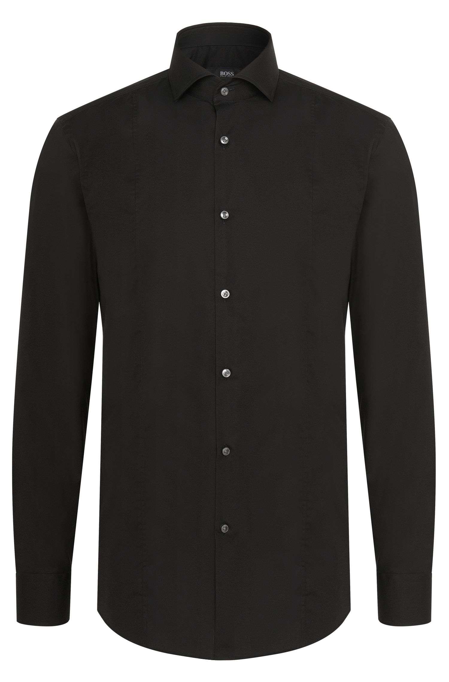 Slim-fit shirt in pure cotton: 'Philip'