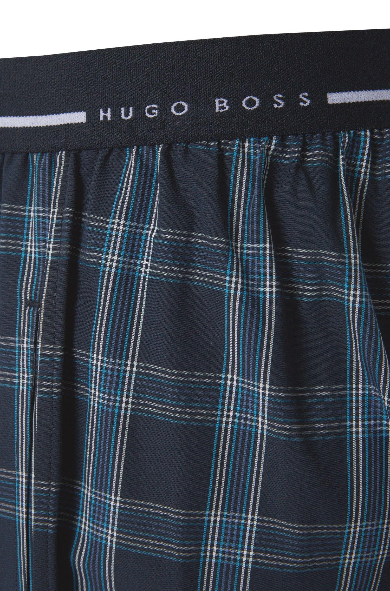 Karierte Pyjama-Hose aus Baumwolle: 'Long Pant EW 1'