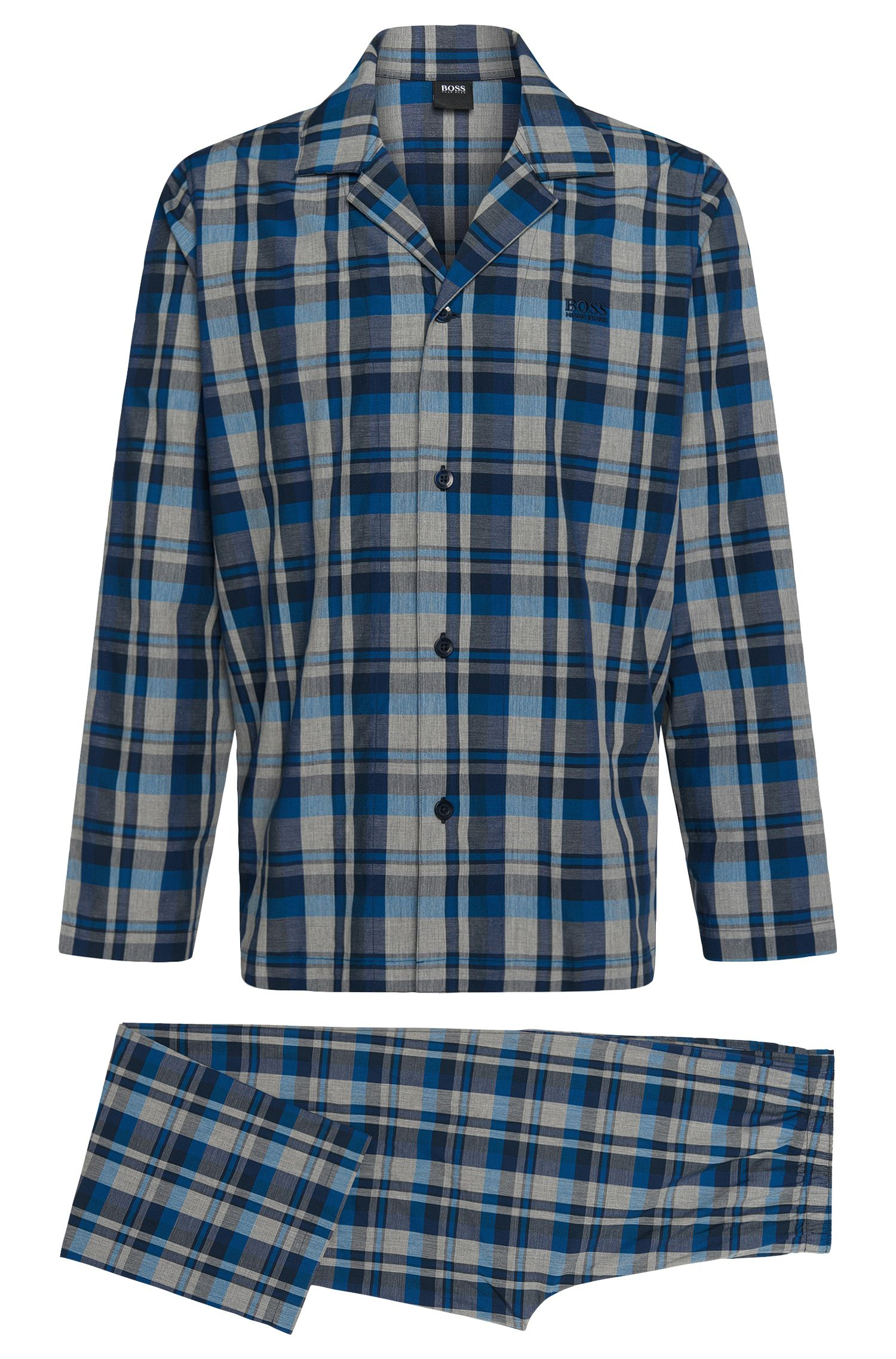 Patterned pyjamas in cotton: 'Pyjama 1'