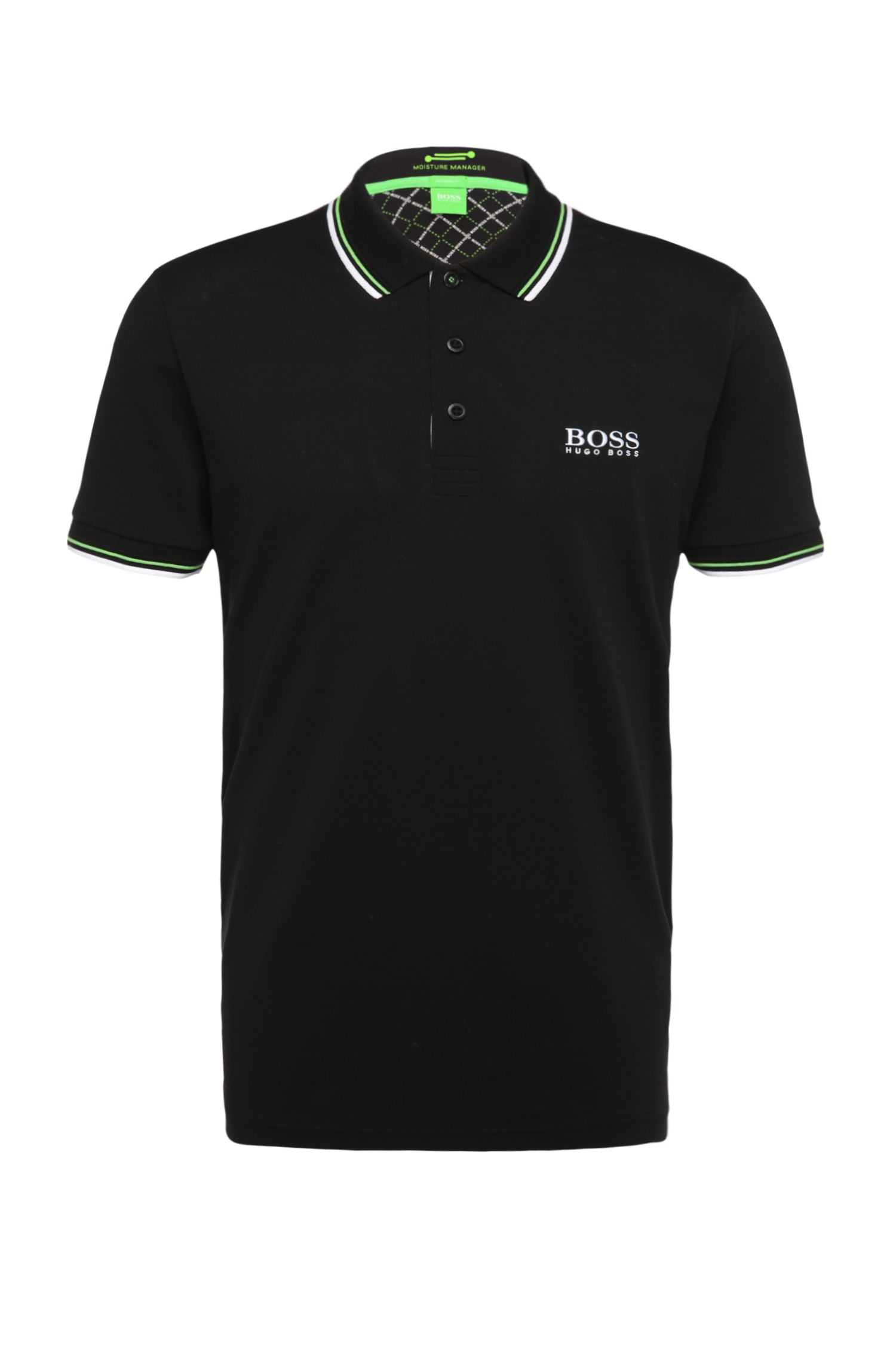 Polo de golf Regular Fit en maille piquée unie : « Paddy Pro »