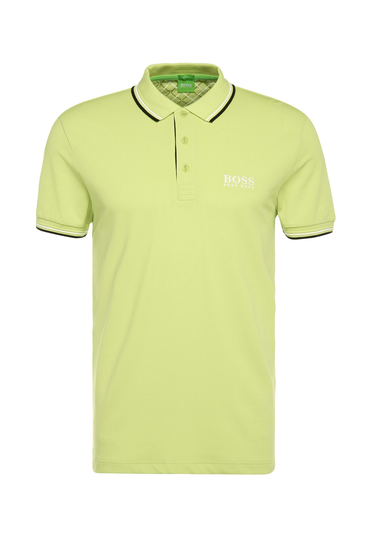 Plain-coloured regular-fit golf polo shirt in piqué: 'Paddy Pro'