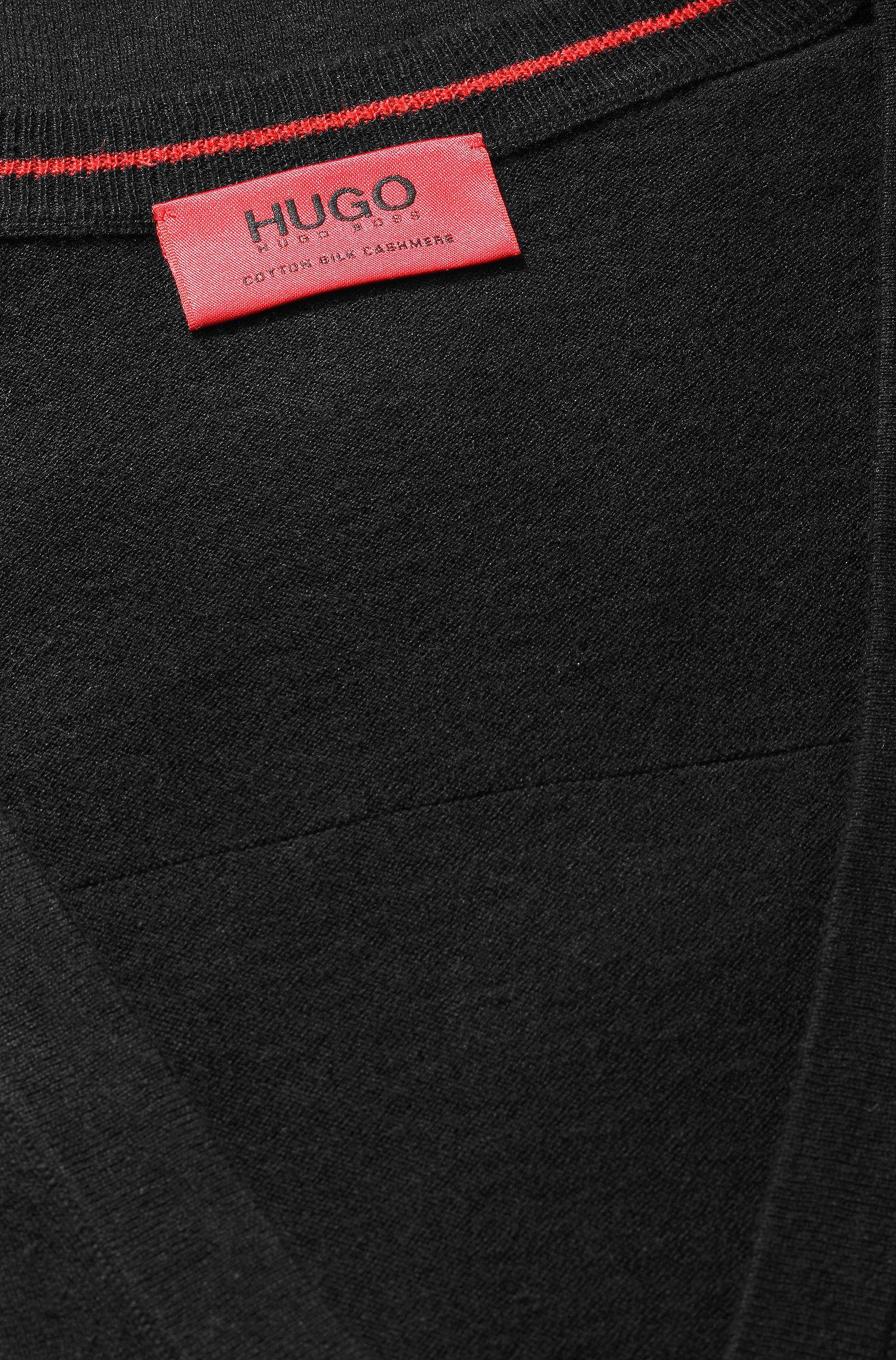 Veste en maille en coton mélangé, avec de la soie et du cachemire: «Scardinus»