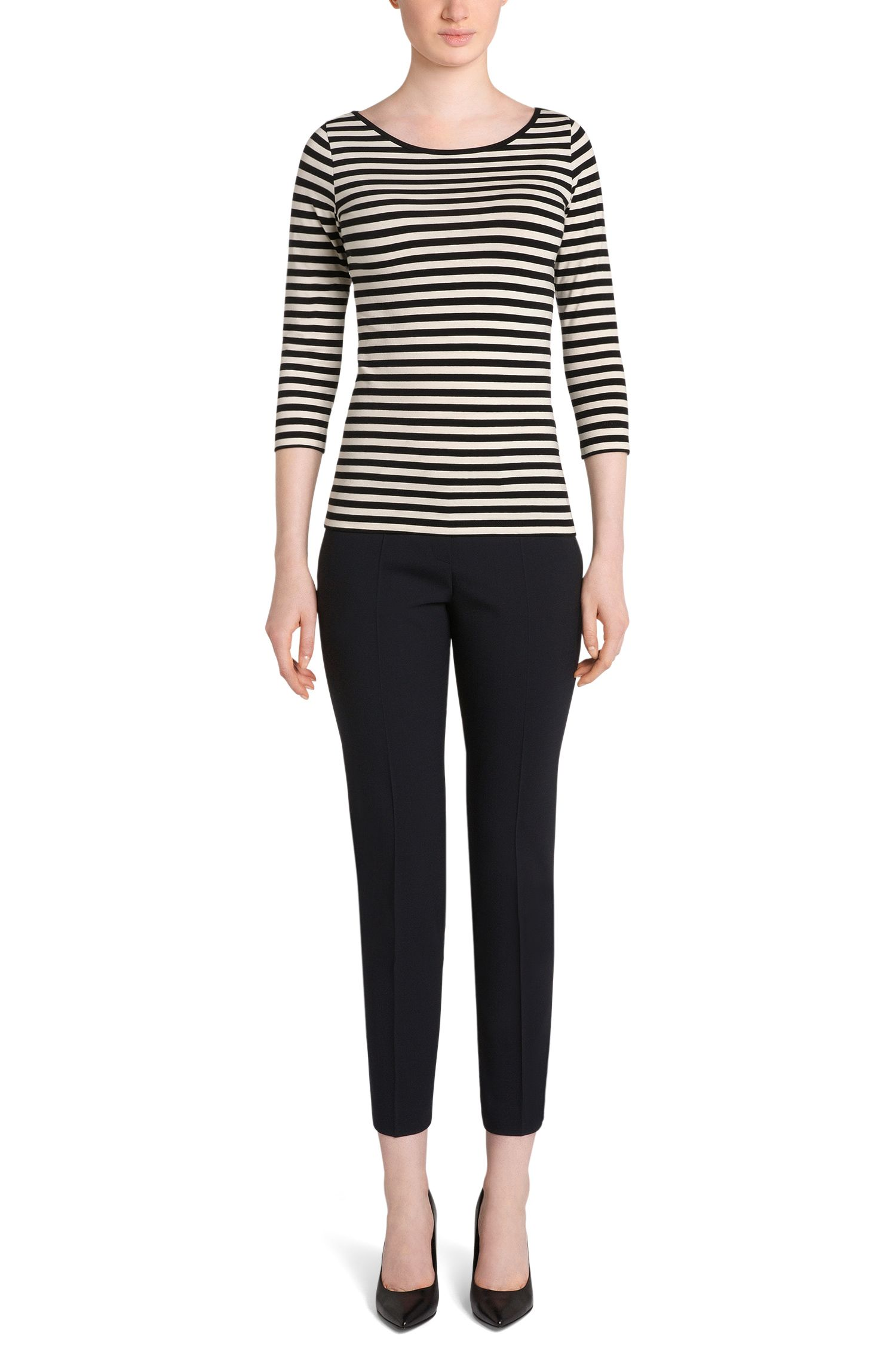 Striped t-shirt in stretch cotton blend: 'Dannala_2'