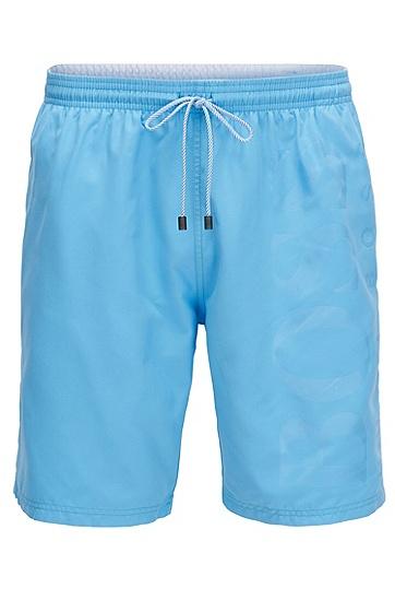 拉绒面料游泳短裤,  454_浅蓝色