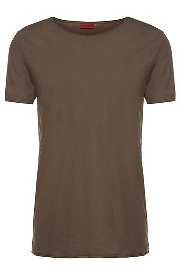 Loose-Fit T-Shirt aus Baumwolle: 'Depus', Hellgrün