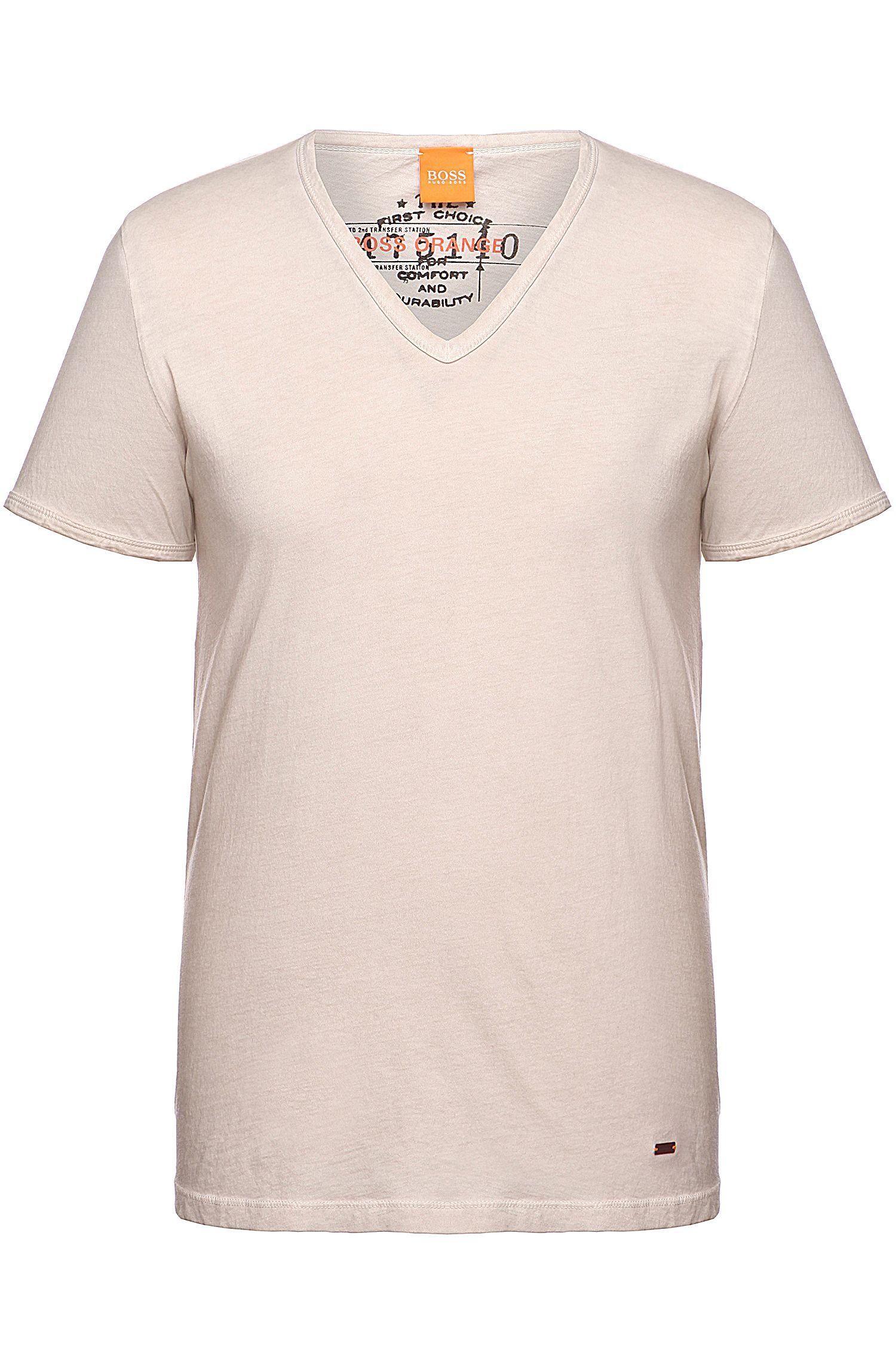 T-shirt BOSS Orange Regular Fit en coton garment dyed