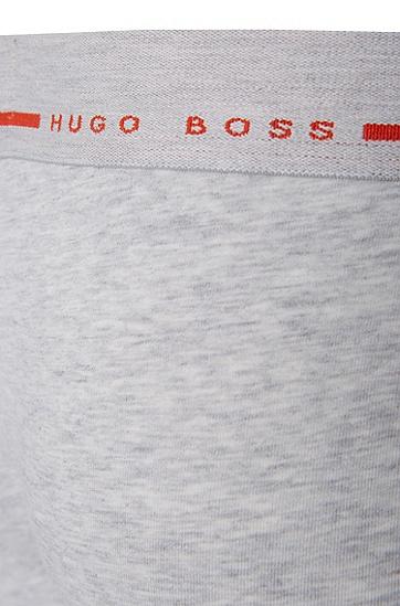 Boxershorts aus Stretch-Baumwolle: 'Boxer 24 Logo', Grau